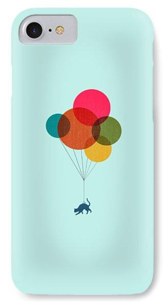 Kitten Baloon Trip IPhone Case