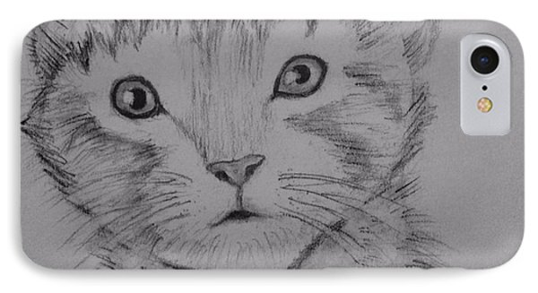 IPhone Case featuring the painting Kitten by Brindha Naveen