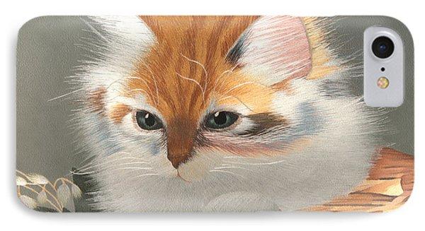 Kitten In A Basket IPhone Case by Sergey Lukashin