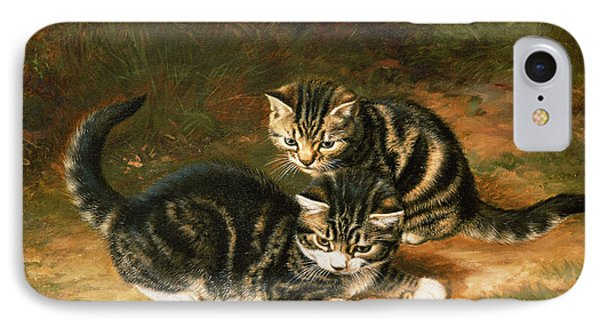 Kittens   IPhone Case by Horatio Henry Couldery
