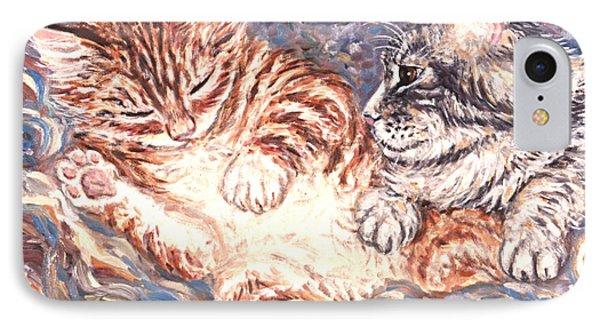 Kittens Sleeping Phone Case by Linda Mears