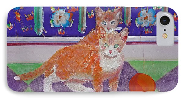 Kittens With Wild Wool Phone Case by Charles Stuart