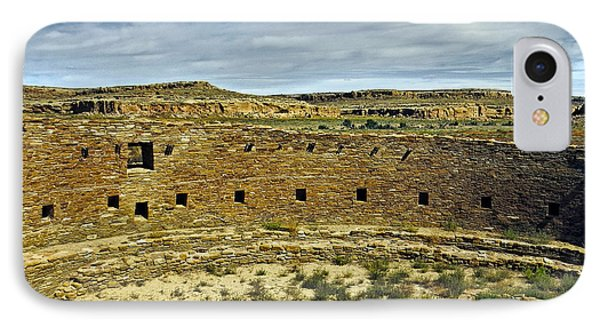 IPhone Case featuring the photograph Kiva View Chaco Canyon by Kurt Van Wagner