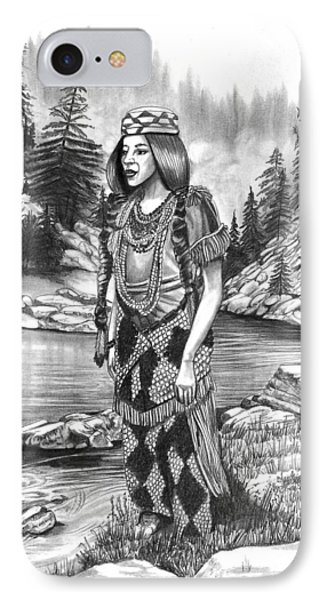 Klamath Indian Woman Phone Case by Cheryl Poland