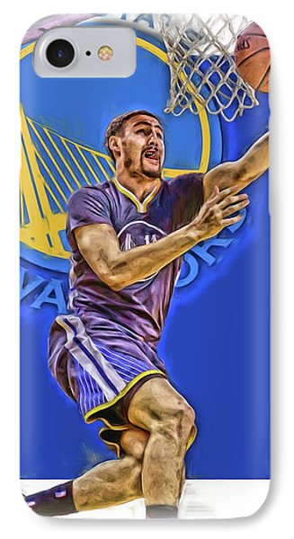 Klay Thompson Golden State Warriors Oil Art IPhone Case