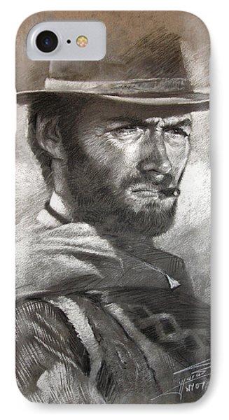 Klint Eastwood IPhone Case by Ylli Haruni