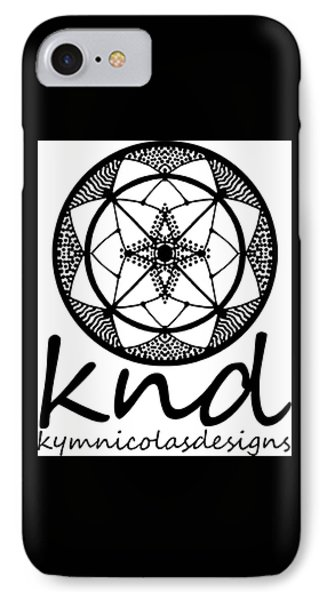 IPhone Case featuring the painting Knd Logo by Kym Nicolas