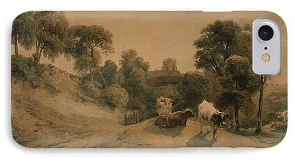 Kneeton On The Hill IPhone Case by Peter de Wint