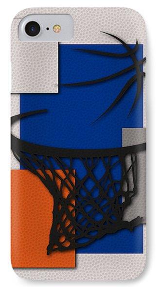 Knicks Hoop IPhone Case by Joe Hamilton