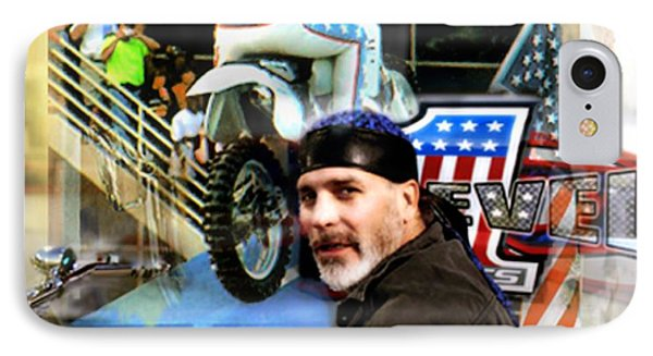 Knievel American Tradition   Robbie Knievel IPhone Case by Iconic Images Art Gallery David Pucciarelli