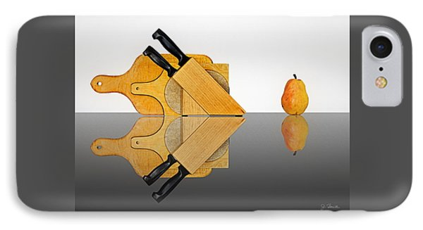 Knife Block, Cutting Boards And Pear IPhone Case by Joe Bonita