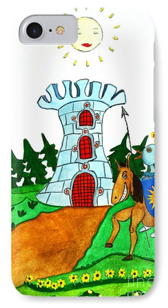 Brave Knight-errant And His Funny Wise Horse IPhone Case by Don Pedro De Gracia