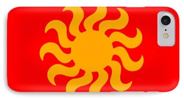 Knitted Sun IPhone Case by Anton Kalinichev