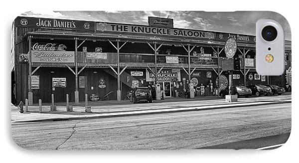 Knuckle Saloon Sturgis IPhone Case by Richard Wiggins