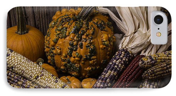 Knuklehead Pumpkin And Indian Corn IPhone Case