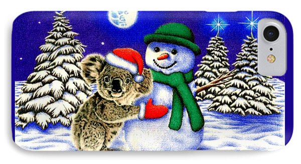 Koala With Snowman IPhone Case