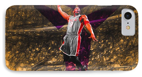 Kobe Bryant Black Mamba Digital Painting IPhone Case by David Haskett