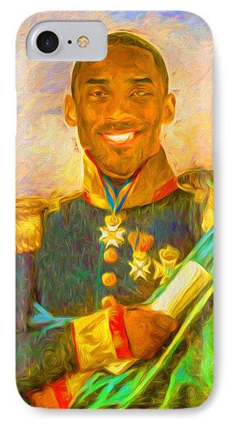 Kobe Bryant Floor General Digital Painting La Lakers IPhone 7 Case by David Haskett
