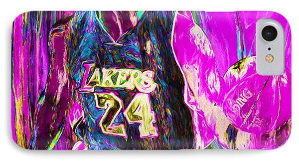 Kobe Bryant La Lakers Digital Painting 3 IPhone Case