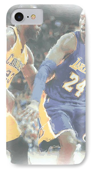 Lebron James iPhone 7 Case - Kobe Bryant Lebron James 2 by Joe Hamilton