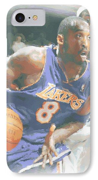 Kobe Bryant Lebron James IPhone 7 Case by Joe Hamilton