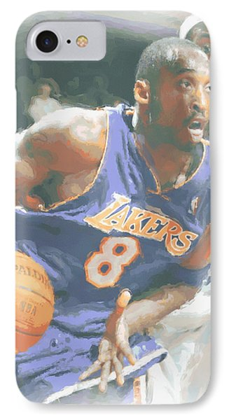 Kobe Bryant Lebron James IPhone Case by Joe Hamilton