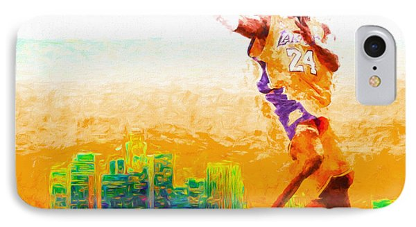 Kobe Bryant Los Angeles Lakers Digital Painting 1 IPhone Case