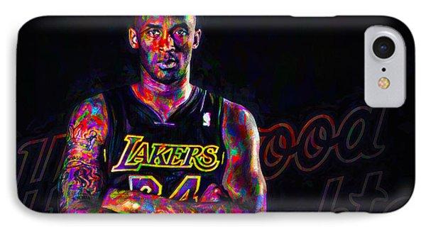 Kobe Bryant Los Angeles Lakers Digital Painting 2 IPhone Case