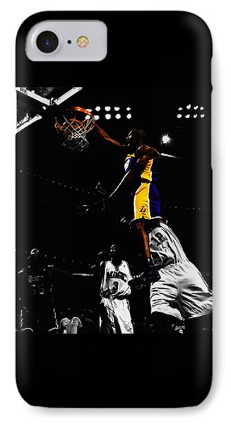 Kobe Bryant On Top Of Dwight Howard IPhone 7 Case by Brian Reaves
