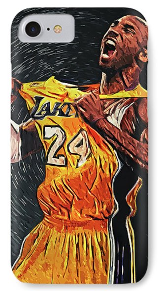 Lebron James iPhone 7 Case - Kobe Bryant by Taylan Apukovska