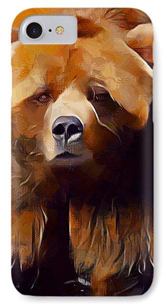 Kodiak Bear Painting  IPhone Case