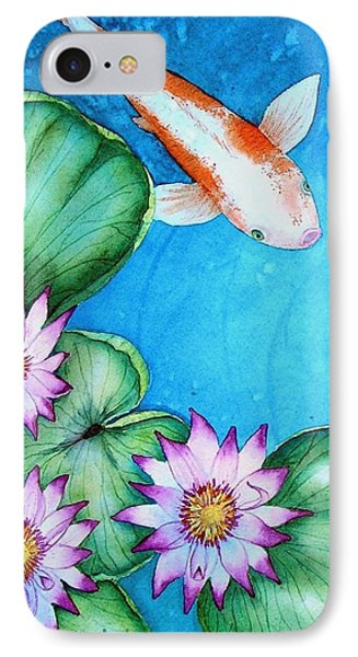 Koi And Lilies Cards And Prints  IPhone Case