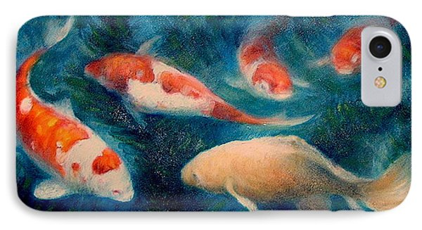 IPhone Case featuring the painting Koi Ballet 2 by Donelli  DiMaria