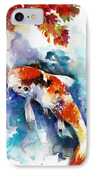 Koi Fish In The Lake IPhone Case by Tiberiu Soos