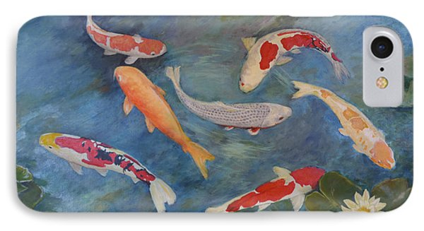IPhone Case featuring the painting Koi Iv by Sandra Nardone