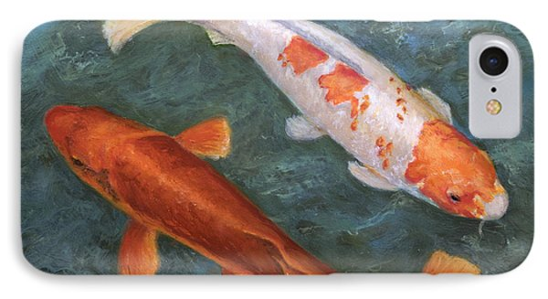 IPhone Case featuring the painting Koi Pair by Sandra Nardone