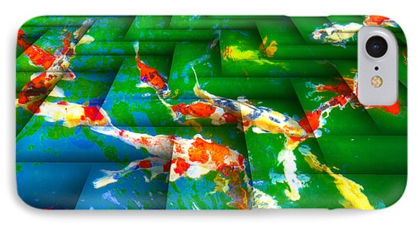 IPhone Case featuring the digital art Koi Mosaic I by Manny Lorenzo