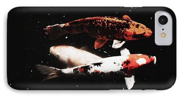 IPhone Case featuring the photograph Koi Trio  by Deborah  Crew-Johnson