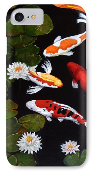 IPhone Case featuring the painting Koi V by Sandra Nardone