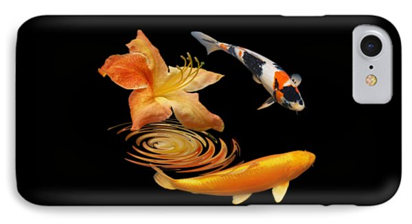 Koi With Azalea Ripples IPhone Case