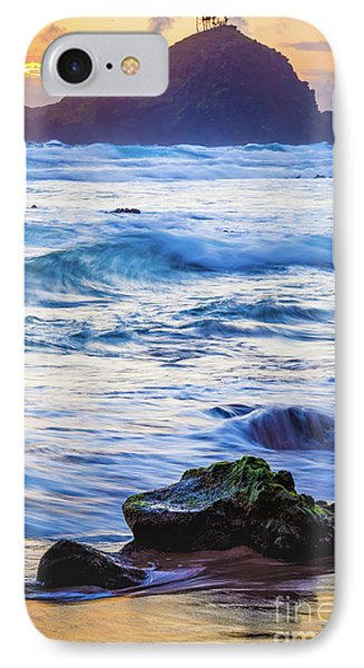 Koki Beach Sunrise #4 IPhone Case by Inge Johnsson