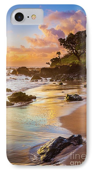 Koki Beach Sunrise Phone Case by Inge Johnsson