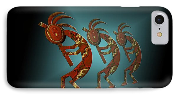 Kokopelli Phone Case by Carol and Mike Werner