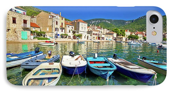 Komiza On Vis Island Turquoise Waterfront IPhone Case by Brch Photography