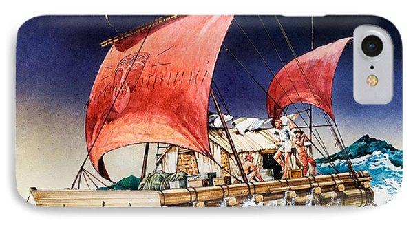 Kon Tiki On Its Epic Voyage IPhone Case