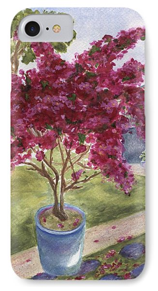 IPhone Case featuring the painting Kona Bougainvillea by Jamie Frier