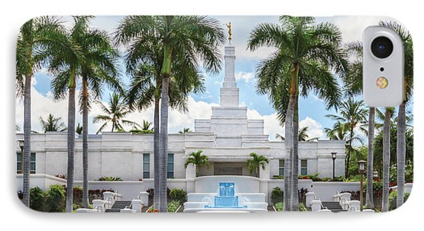 Kona Hawaii Temple-day IPhone Case by Denise Bird