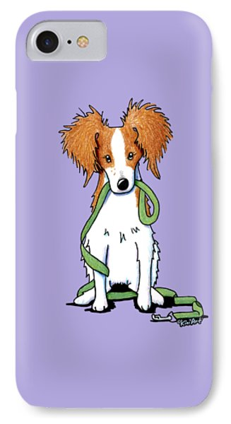 Kooikerhondje With Leash Phone Case by Kim Niles
