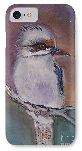 IPhone Case featuring the painting Kookaburra Fancy by Leslie Allen