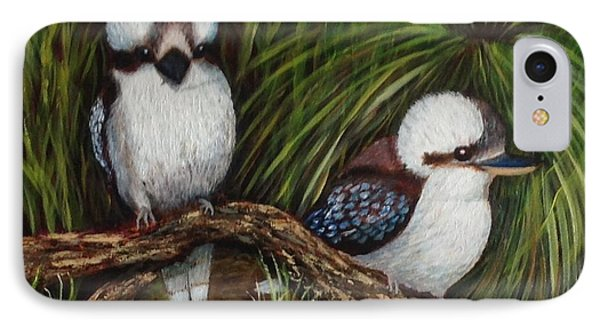 Kookaburras IPhone Case by Renate Voigt